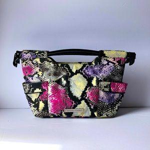 ADRIENNE VITTADINI top-handle purse python nylon